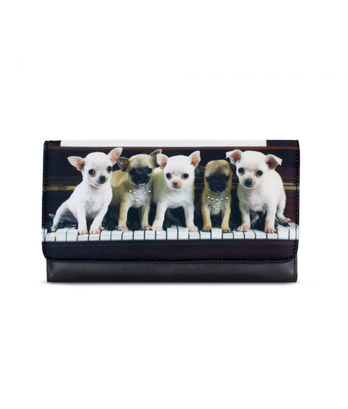 Grand compagnon - Porte-chéquier - Bébés chihuahuas piano