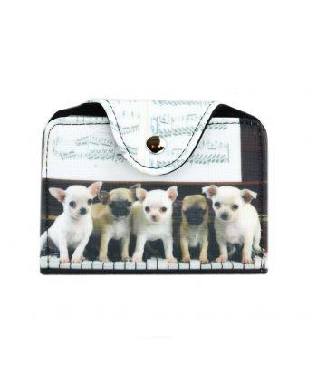 Porte-cartes - Bébés chihuahuas piano