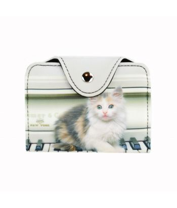 Porte-cartes - Chat piano