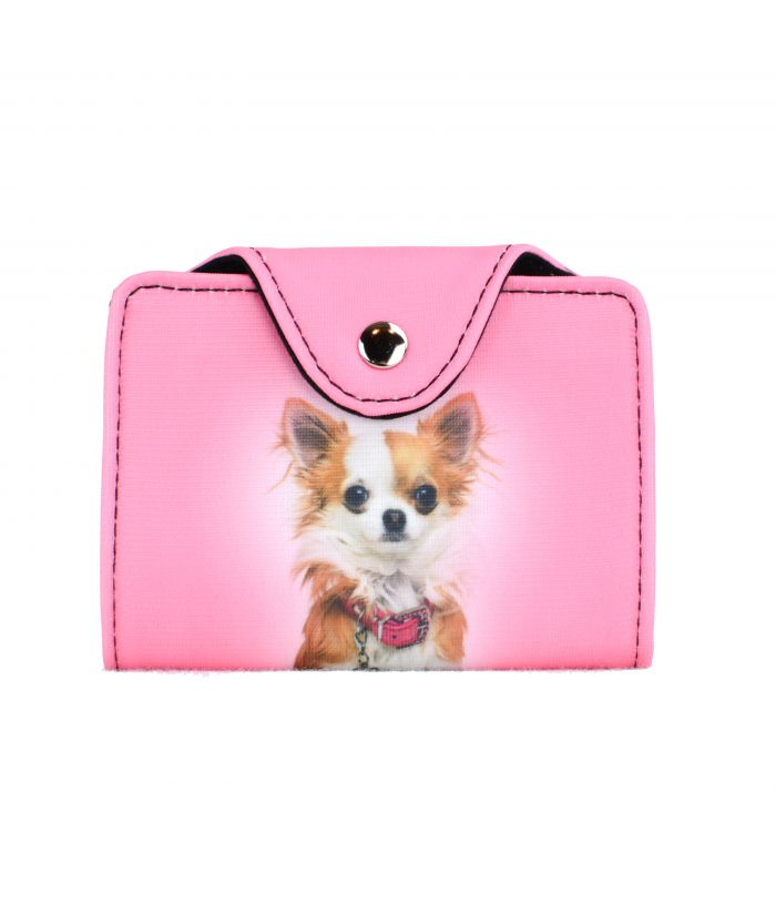 Porte-cartes - Chihuahua rose