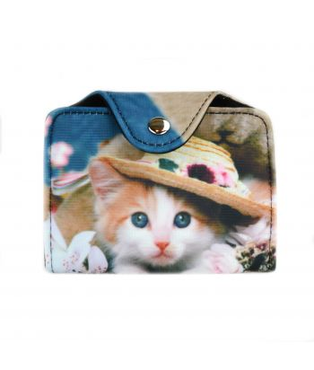 Porte-cartes - Chat chapeau