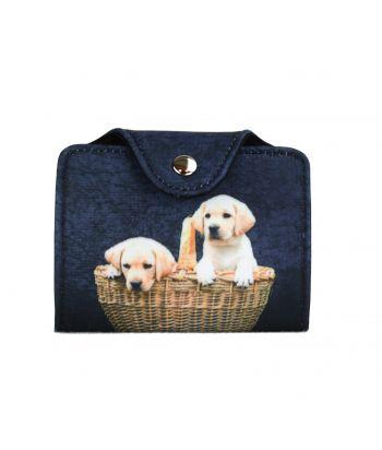 Porte-cartes - 2 bébés Labradors dans le panier