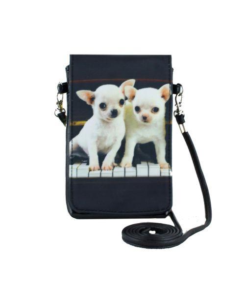 Pochettes téléphones XL - Bébés chihuahuas piano
