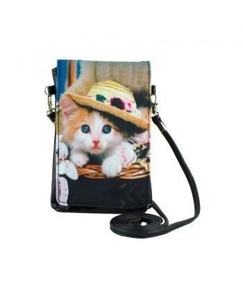 Pochettes téléphones XL - Chat chapeau
