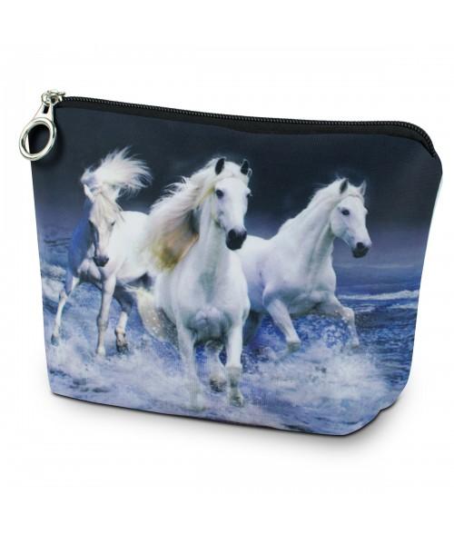 Trousse - 3 chevaux blancs sur l'eau