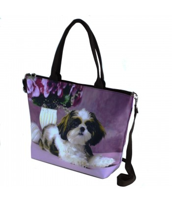 Sac grand week-end - Shih Tzu parme