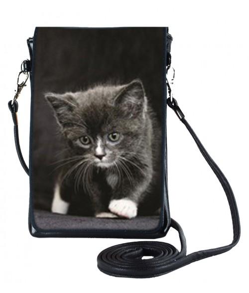 Pochettes téléphones XL - Le bébé chat noir