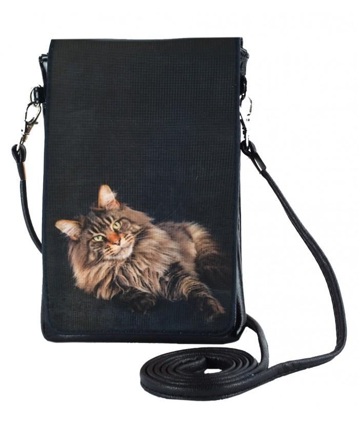Pochettes téléphones XL - Le chat Main Coon